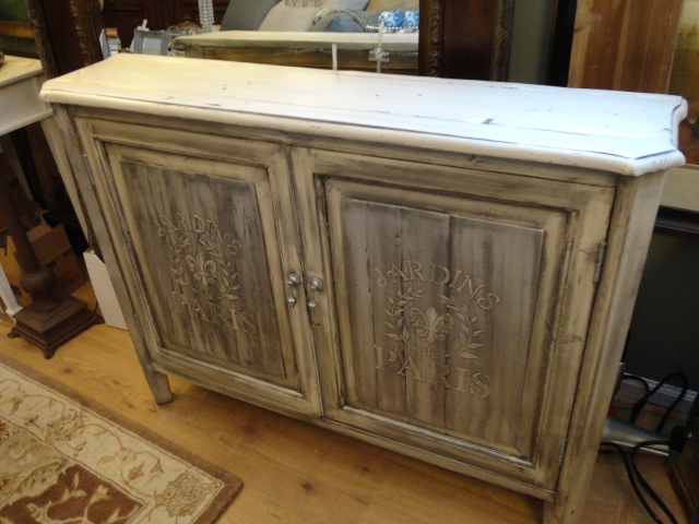 French Cabinet stenciled and glazed