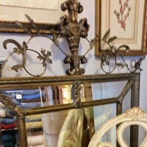 """Beautiful Iron Scrollwork makes this mirror extra special 63""""h x 43"""" w"""