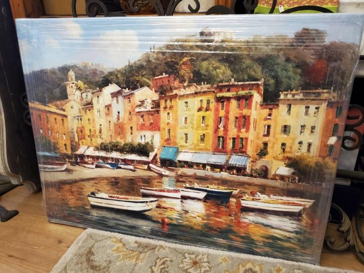 italian waterfront print